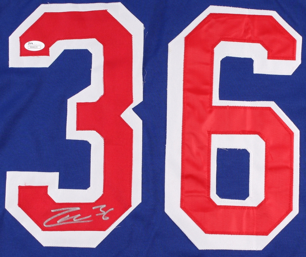 8eb322ed1 Mats Zuccarello Signed Rangers Jersey (JSA COA) at PristineAuction.com