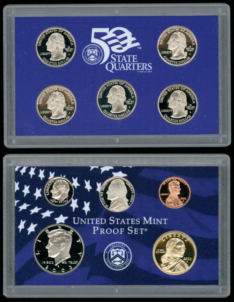 Mint Silver Proof 10 Coin Set ~ Mint Condition 2003 U.S