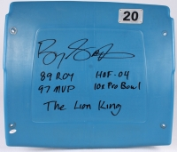 Barry Sanders Signed Silverdome Stadium Game-Used Blue #20 Seatback with (5) Inscriptions (Schwartz COA) at PristineAuction.com