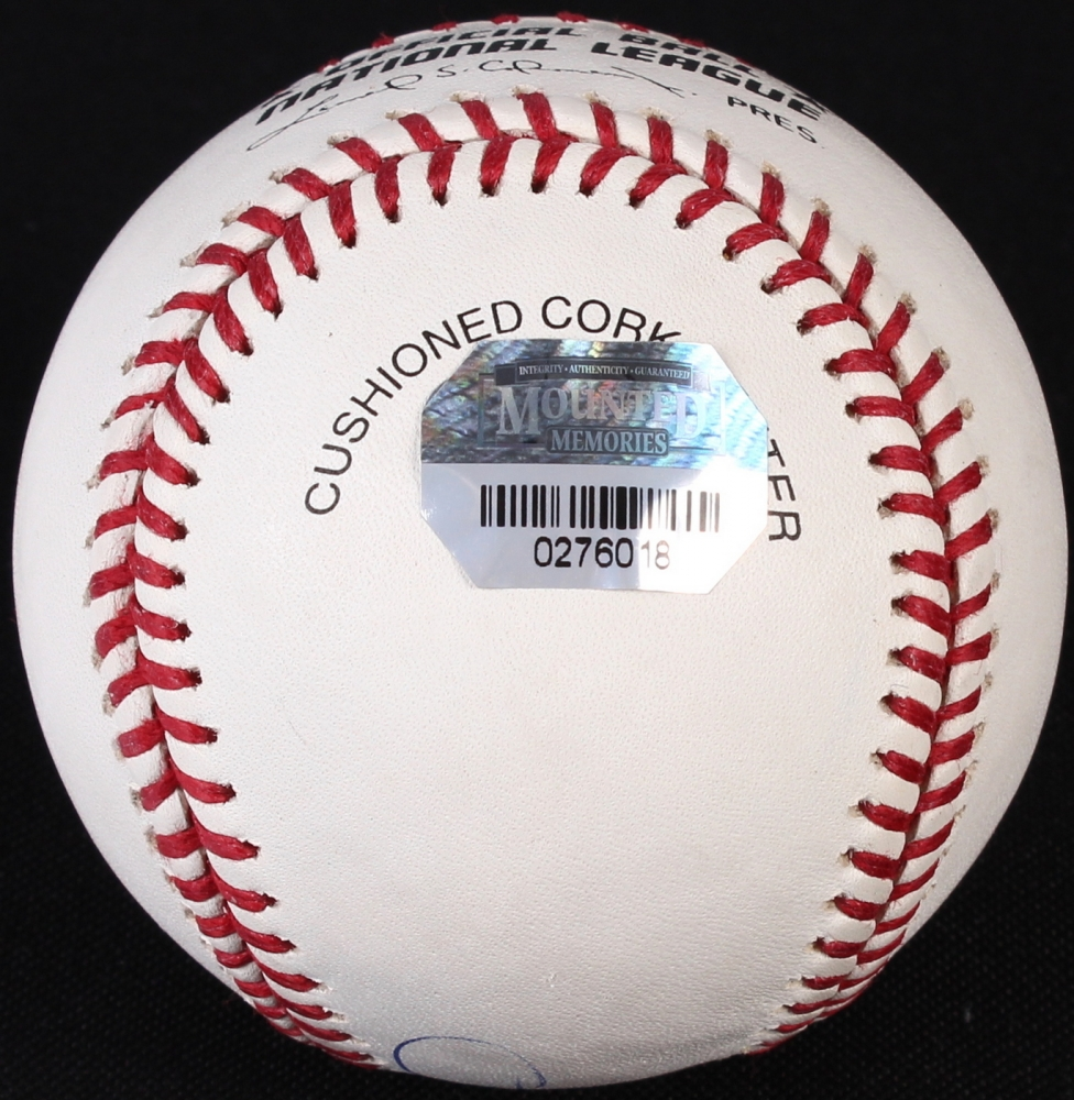 Sammy Sosa Signed ONL Baseball (Mounted Memories ...  Mounted
