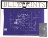 Collection of (4) Batman Batmobile 1992 LE 11x14 Blueprints from Original DC Comics Schematics