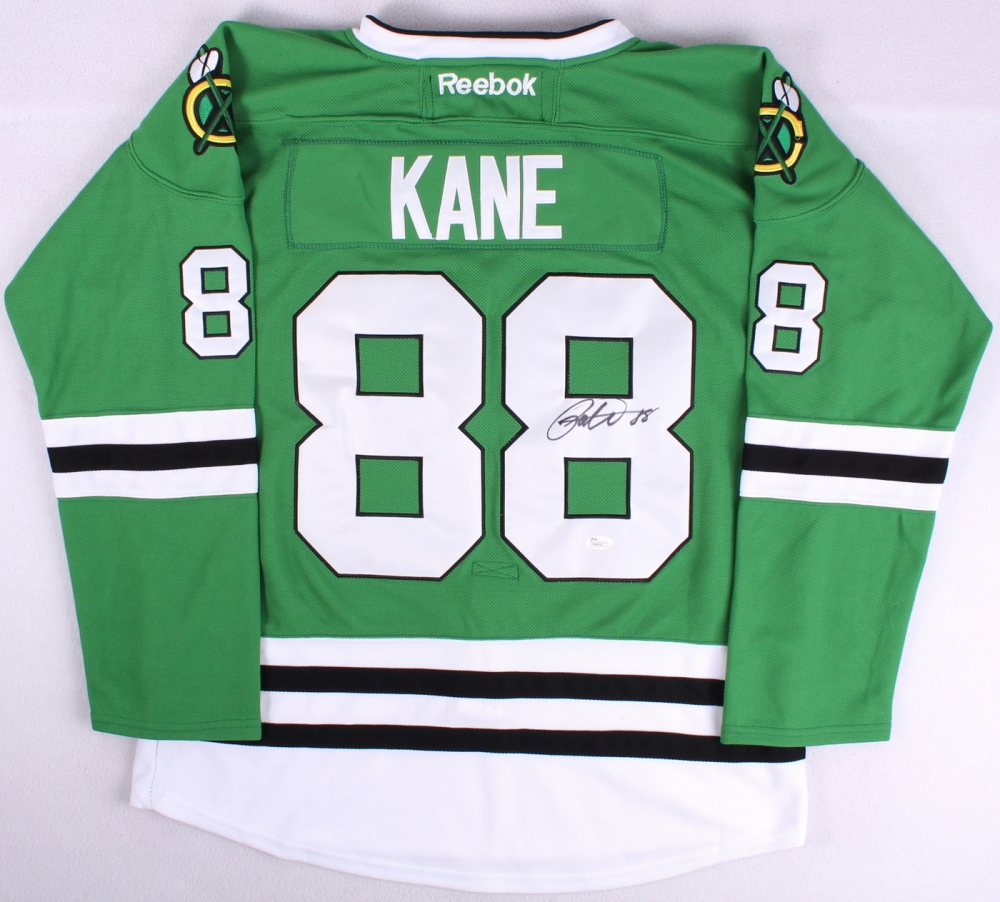 Patrick Kane Signed Blackhawks St Patricks Day Jersey (JSA COA) at  PristineAuction.com 4f28a64930c