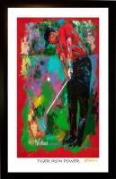 "Tiger Woods 11x17 ""Tiger Iron Power"" Signed Winford Lithograph (Winford COA)"