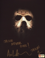 "Ari Lehman Signed ""Friday the 13th"" 8x10 Photo Inscribed ""Jason Never Dies!"" & ""Jason 1"" (PA COA) at PristineAuction.com"