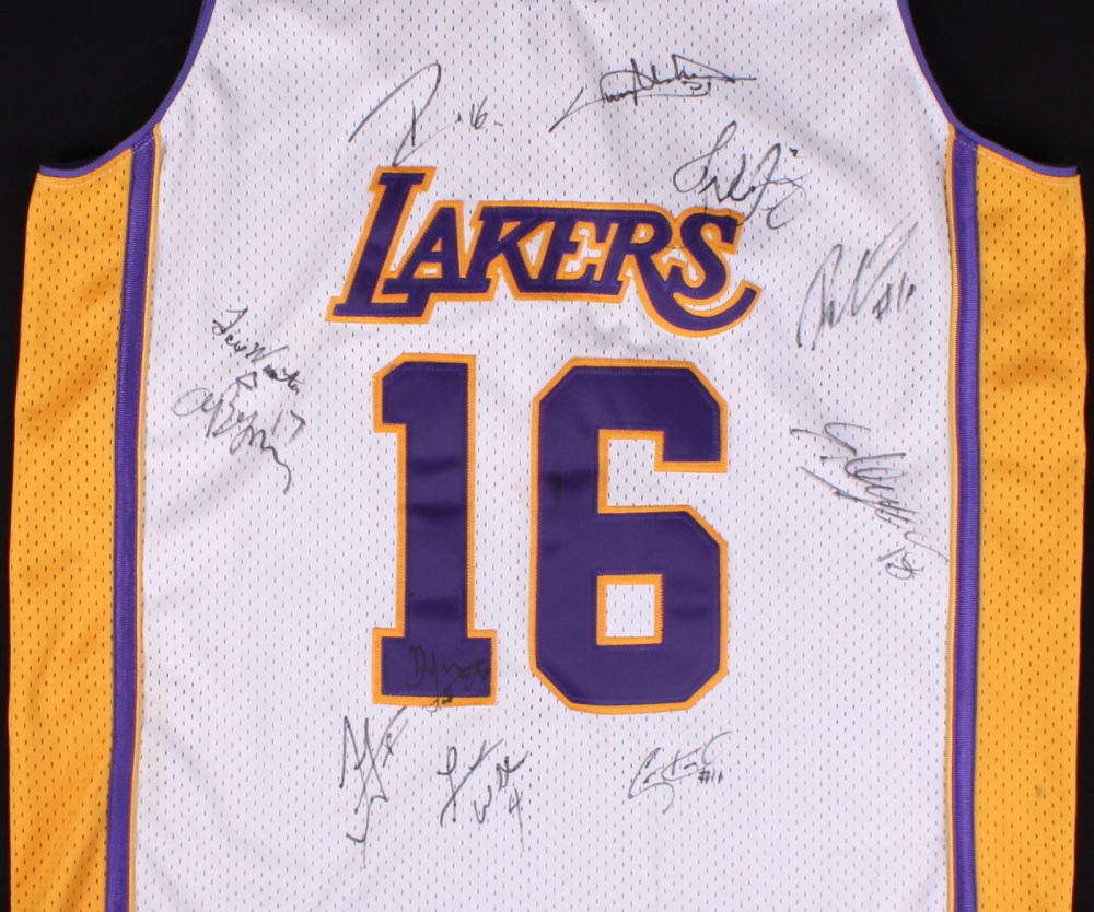 127e4ce19 ... promo code for chris pau gasol 60th anniversary lakers jersey signed by  11 with pau gasol