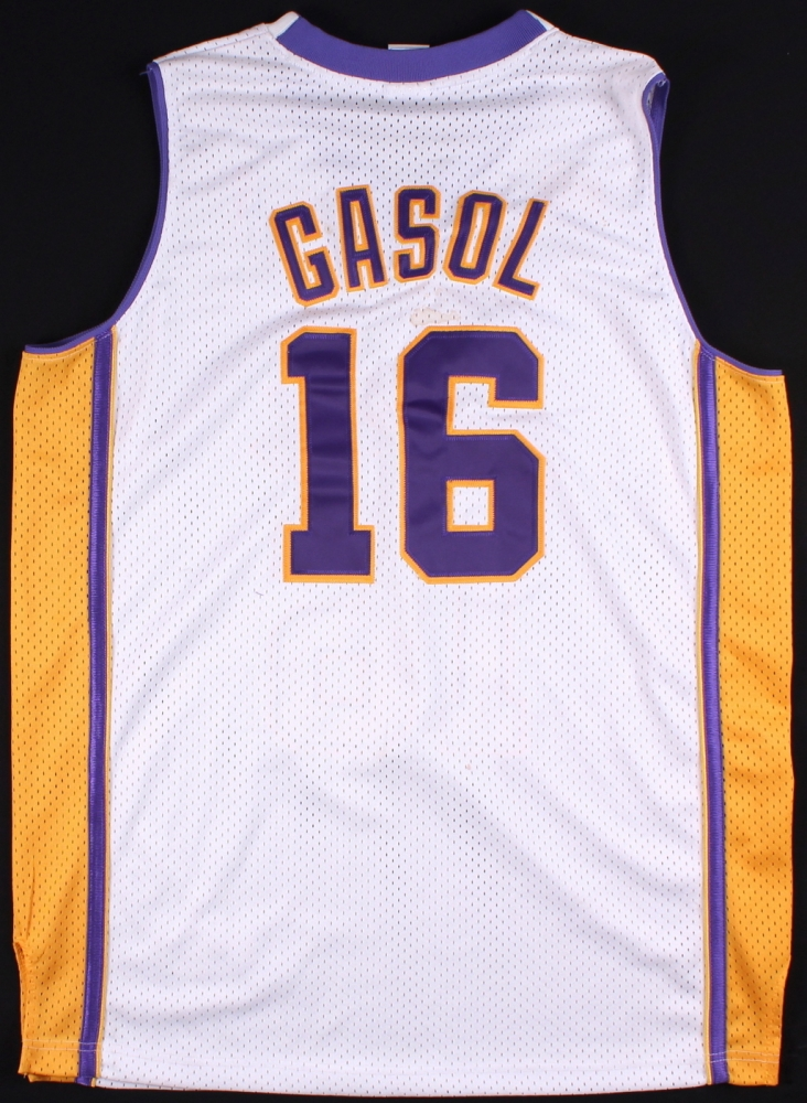 22ed58dce ... Pau Gasol 60th Anniversary Lakers Jersey Signed by (11) with Pau Gasol