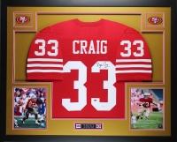 Roger Craig Signed 35x43 Custom Framed Jersey (JSA COA) at PristineAuction.com