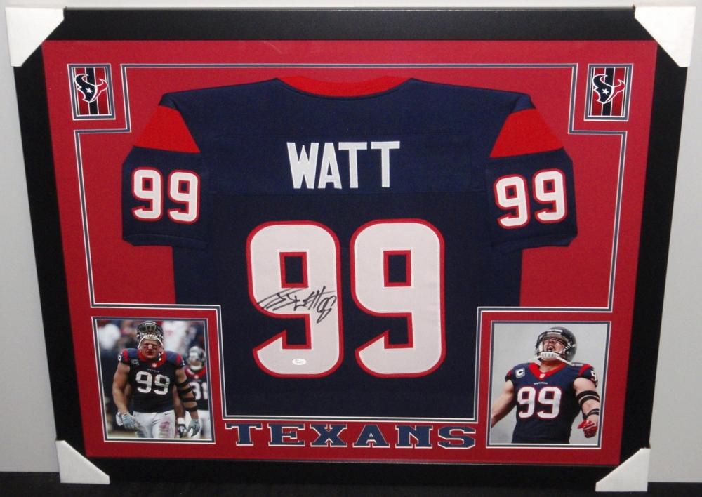 jj watt framed jersey