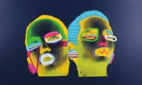"Ed Paschke Signed & Inscribed ""Indigo Deux"" 25x38 LE 1988 Serigraph on Archival Paper #2/60 (PA LOA)"