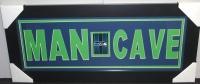 "Seattle Seahawks ""Man Cave"" 13x31 Custom Frame Display"
