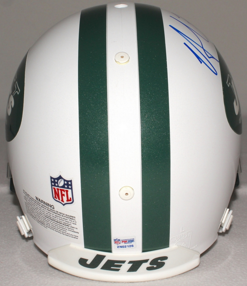 6e5c17f1a Nick Mangold Signed Jets Full-Size Authentic Proline Helmet (PSA COA) at  PristineAuction