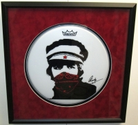 Ringo Starr Signed Custom Framed Limited Edition Red Bandana Drumhead from Ringo's Art Collection (JSA LOA) at PristineAuction.com