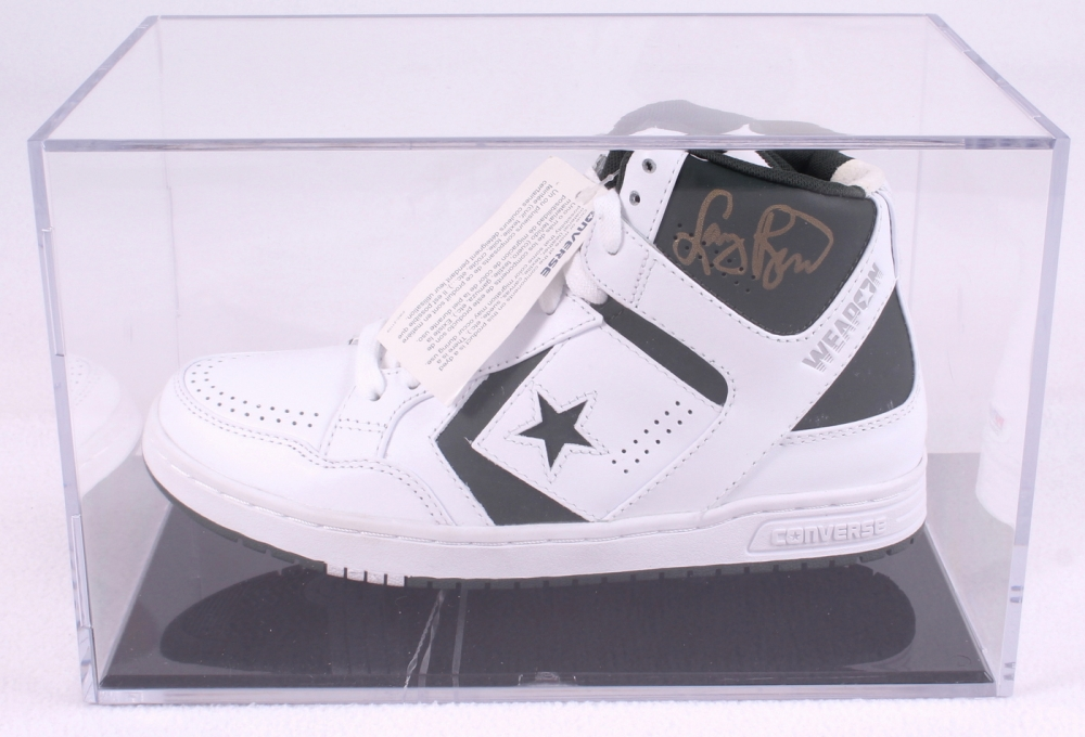 Larry Bird Signed Throwback Converse Weapon Basketball Shoe with Display  Case (PSA COA) at b76e87796