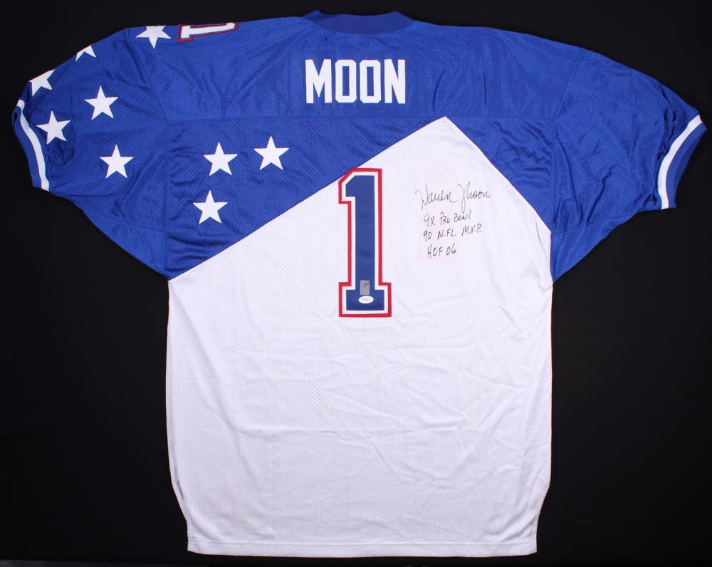 ... Warren Moon Signed 1995 Pro Bowl Jersey Inscribed ... 75eb3feec