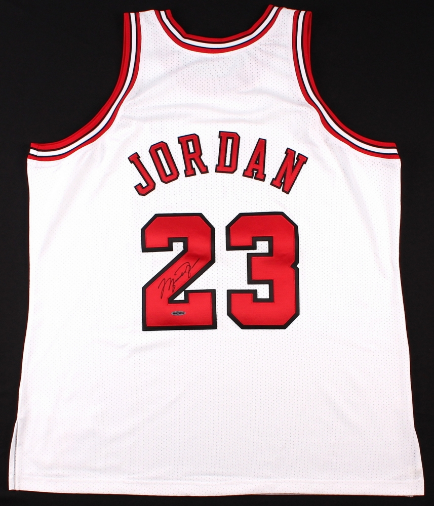 142511d742e Michael Jordan Signed Bulls Mitchell   Ness Throwback Authentic Jersey (UDA  COA) at PristineAuction