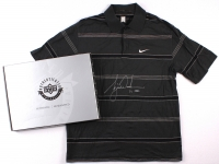 Tiger Woods Signed Tournament Worn Black Nike Golf Shirt #1/1 (UDA COA) at PristineAuction.com