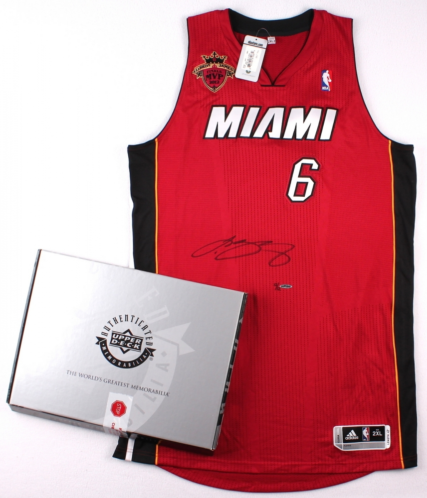 Lebron James Signed Le Miami Heat Authentic Adidas Alternate Jersey With 2012 Nba Finals Mvp Patch 12 12 Uda Coa Pristine Auction