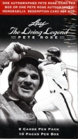 2012 Leaf Living Legends Pete Rose Factory Sealed Box with (10) Packs at PristineAuction.com