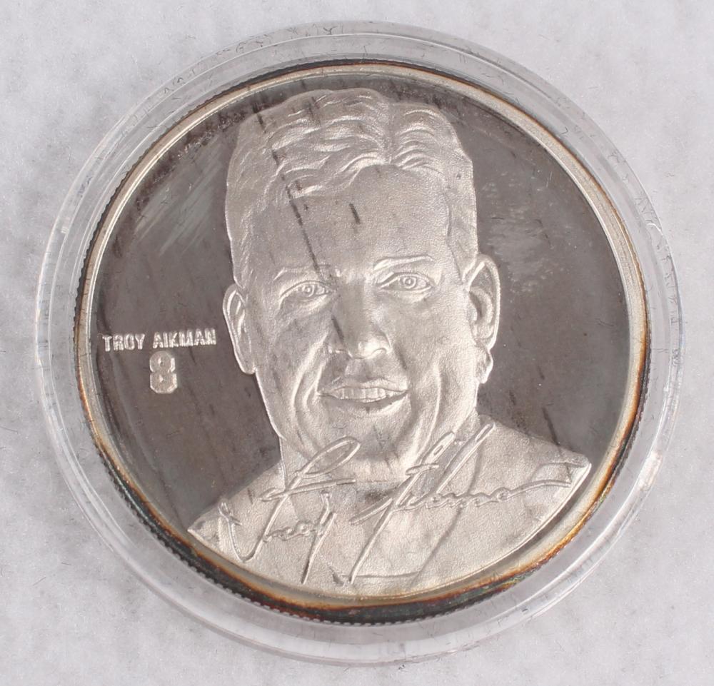 troy aikman highland mint coin
