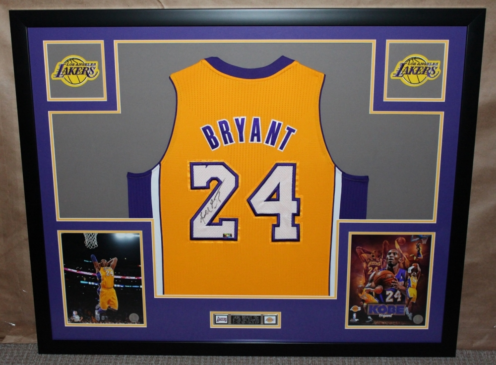 1770470fe Kobe Bryant Signed Lakers 35 The goal with framing ...