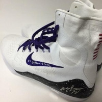 """Pair of (2) Kobe Bryant Signed Game-Used Nike Basketball Shoes #1/1 Inscribed """"vs Golden State"""" & """"44 Pts"""" (Panini COA) at PristineAuction.com"""