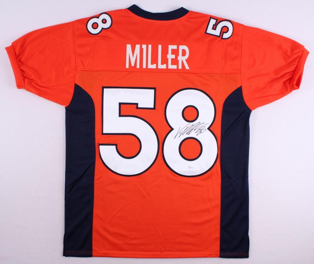 hot sale online 4b733 459ef cheap von miller autographed jersey a233d 4ed0d