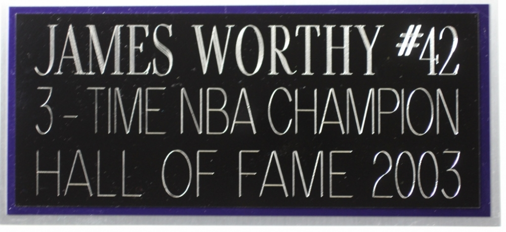 cf4a54d8e8a ... James Worthy Signed Lakers 35x43 Custom Framed Jersey (JSA COA) at  PristineAuction.com