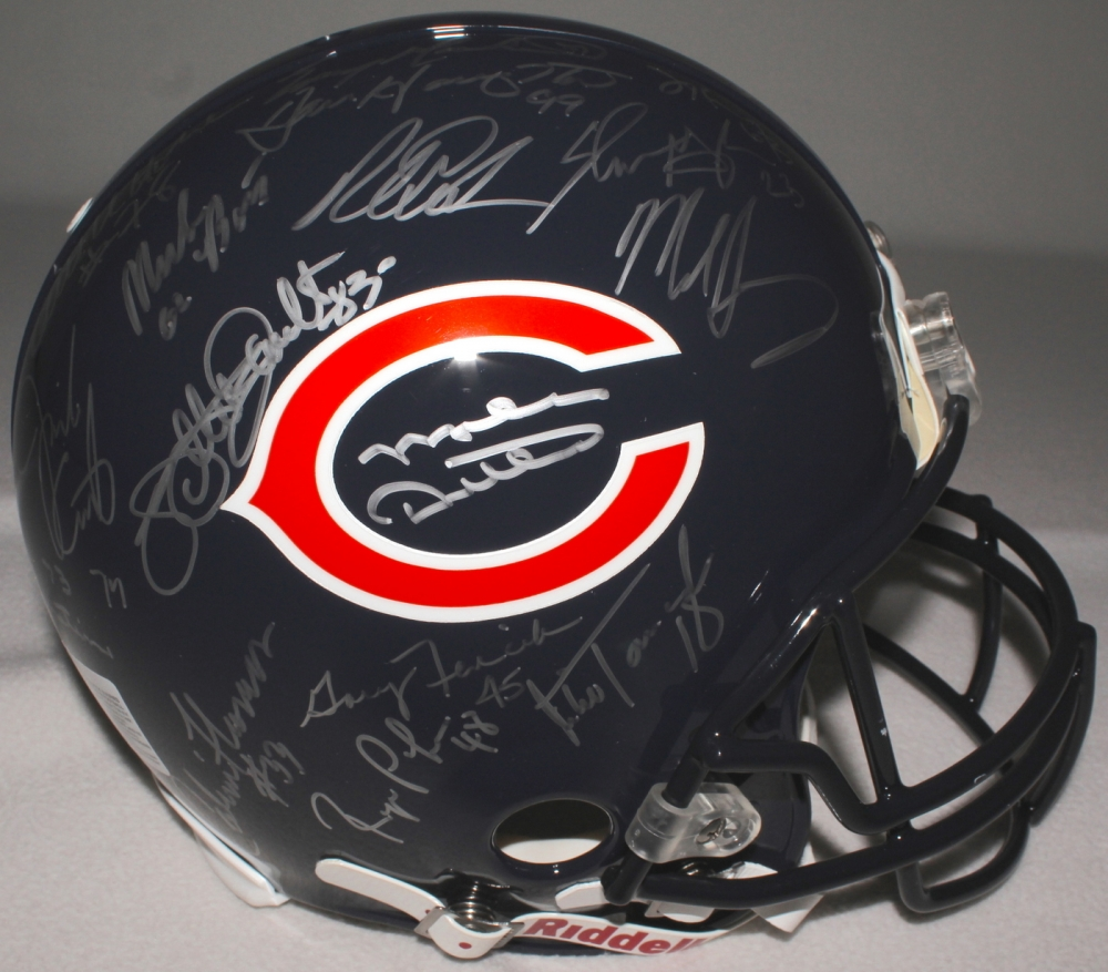6dc96fa5ae8 1985 Chicago Bears Team Signed Authentic Helmet Signed By (30) With Mike  Ditka
