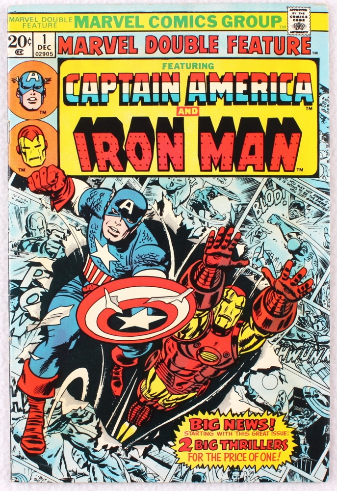 """Vintage 1973 Marvel """"Captain America and Iron Man"""" Issue ..."""