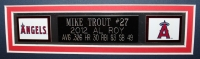 """Mike Trout Signed 35"""" x 43"""" Custom Framed Jersey (MLB) at PristineAuction.com"""