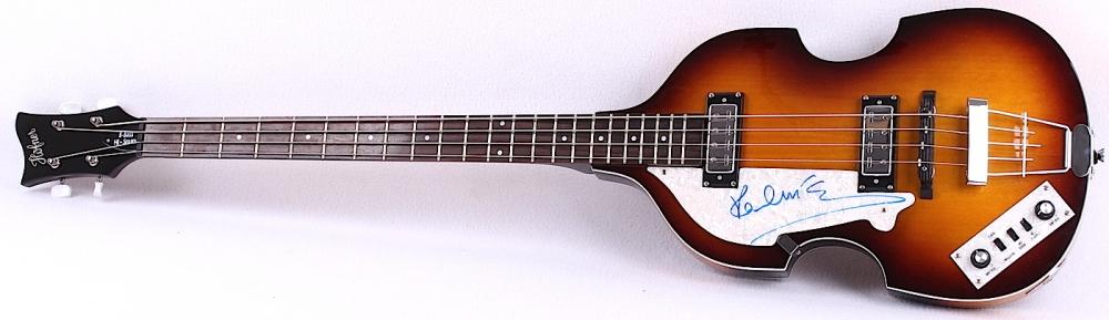 Paul McCartney Signed Left Handed Hofner Beatle Bass Guitar JSA LOA At PristineAuction