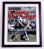 Tom Brady Signed Patriots 22x26 Custom Framed Photo Display (Steiner COA & TriStar)