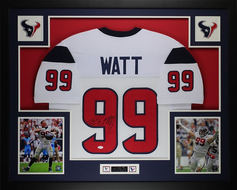 jj watt signed jersey framed