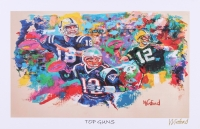 """Tom Brady, Peyton Manning & Aaron Rodgers 11x17 """"Top Guns"""" Signed Winford Lithograph (Winford COA)"""