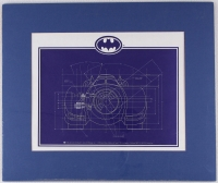 Batman Batmobile Oversized Blueprint LE 1992 19x16 Custom Matted Lithograph