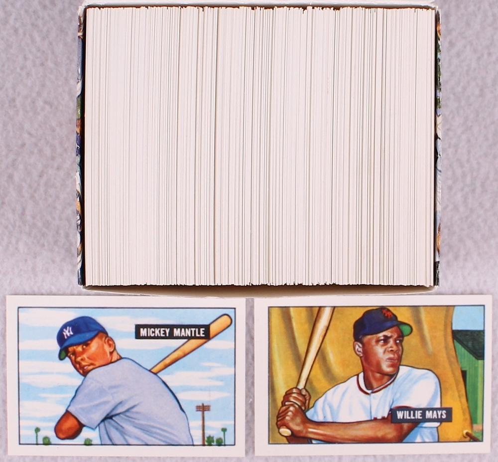 1951 Bowman Reprint Complete Set Of 350 Baseball Cards With Mickey Mantle RC