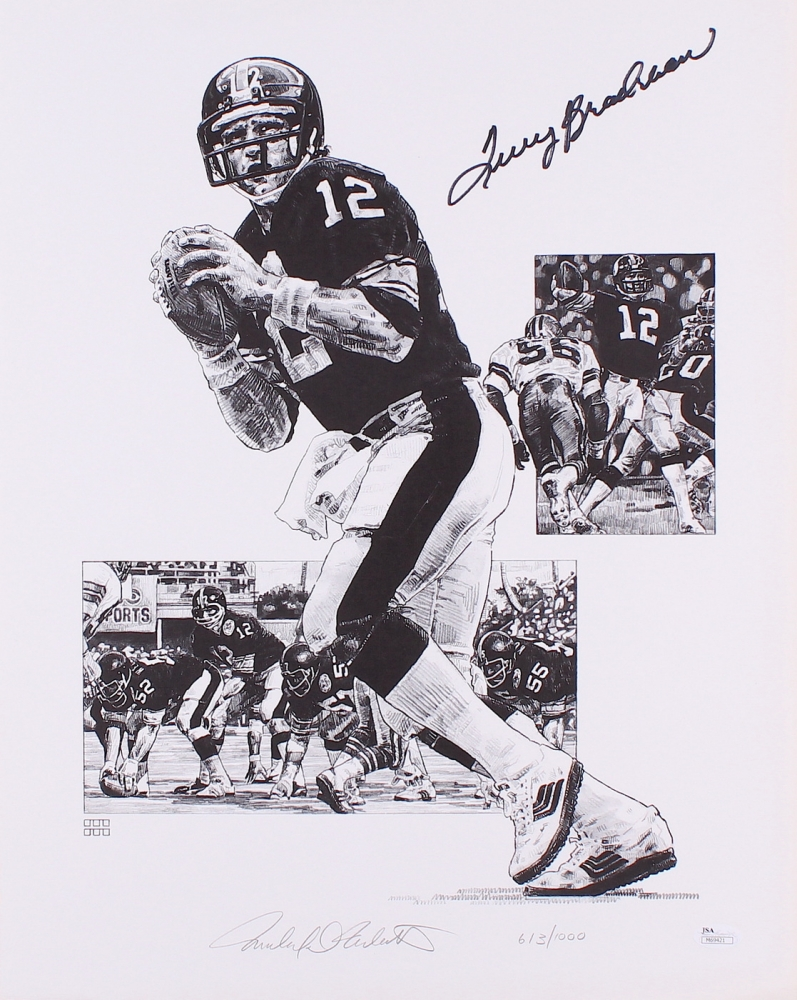 1459a03d1 Terry Bradshaw Signed Steelers 16x20 LE Lithograph  0613 1000 (JSA COA) at