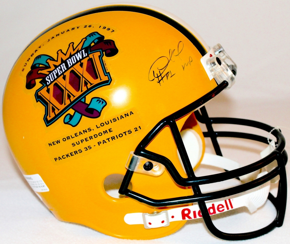422b4f6eb Desmond Howard Signed Packers LE Super Bowl XXXI Full-Size Helmet Inscribed