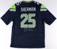 "Richard Sherman Signed Seahawks Jersey Inscribed ""SB XLVIII Champs!!"" (Sherman COA) at PristineAuction.com"