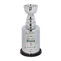 "Wayne Gretzky Signed High Quality Replica LE Oilers Stanley Cup Trophy Inscribed ""Cup 84 85 87 88"" (UDA COA)"