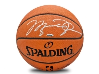 "Michael Jordan Signed Official NBA Game-Ball with Custom ""Failure Quote"" Large Curve Display (UDA COA) at PristineAuction.com"