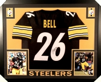 Le'Veon Bell Signed Steelers 35x43 Custom Framed Jersey (JSA COA) at PristineAuction.com