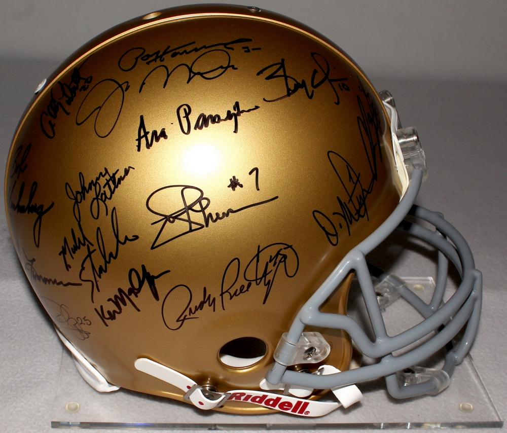 Notre Dame Legends Signed Authentic Proline Helmet with ...