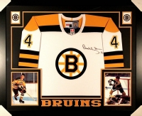 Bobby Orr Signed Bruins 35x43 Custom Framed Jersey (Great North Road COA) at PristineAuction.com