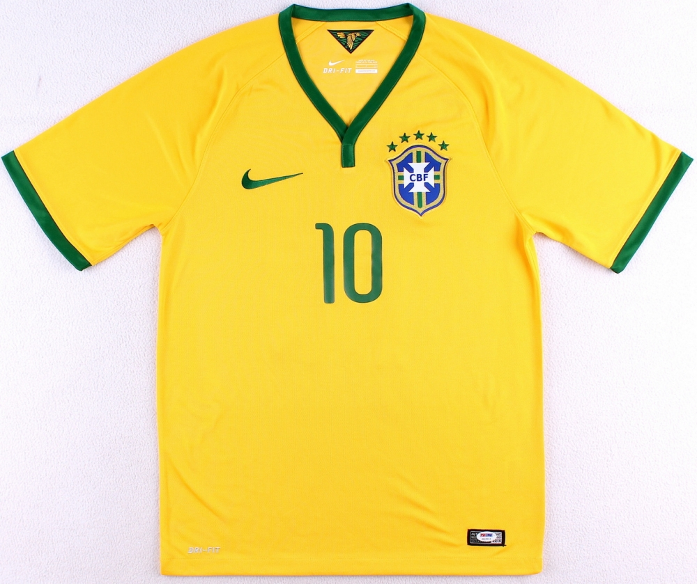1f0d63468 Neymar Signed Brazil Nike Authentic Soccer Jersey (PSA LOA) at  PristineAuction.com