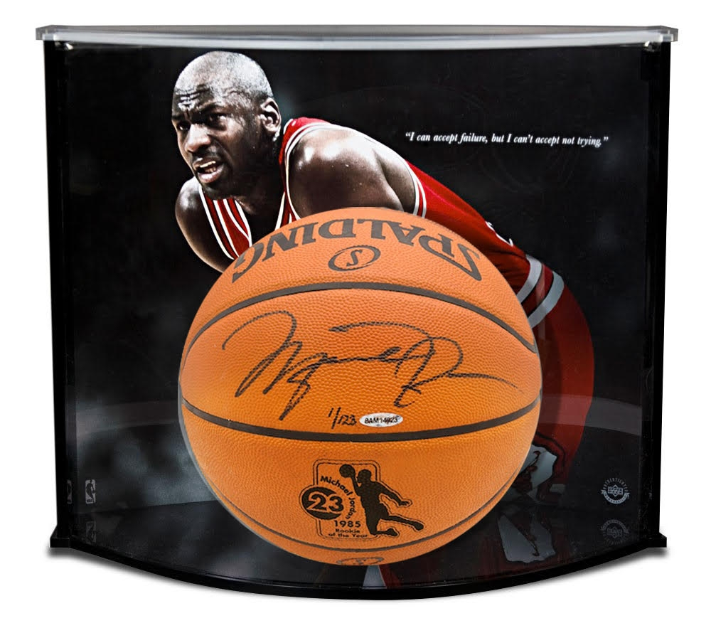 fbc7a39b2bc Michael Jordan Signed ROY Official NBA Game Ball LE of 123 with Custom