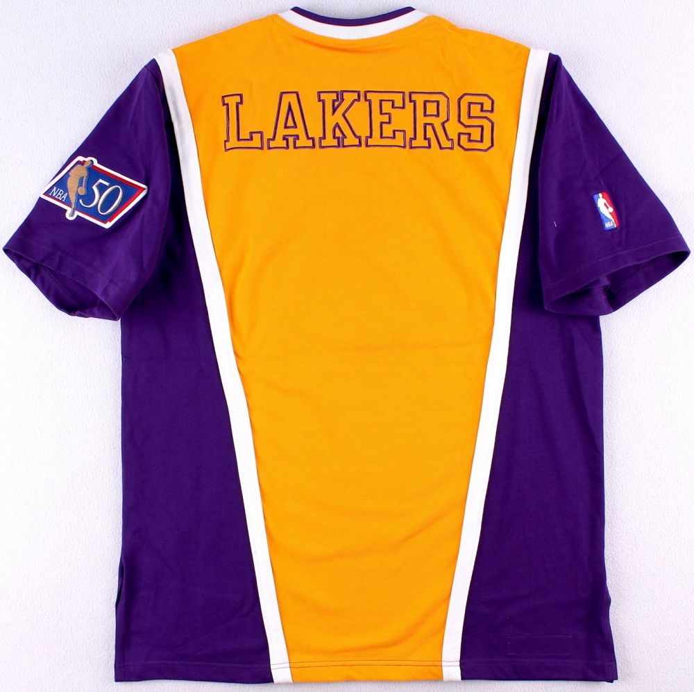 0d21248c4d4 Kobe Bryant Signed LE Lakers Authentic Mitchell   Ness Shooting Shirt  Inscribed