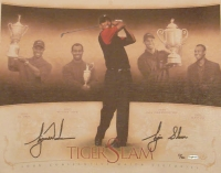 "Tiger Woods Signed LE ""Tiger Slam"" 16x20 Canvas Inscribed ""Tiger Slam"" (UDA COA)"