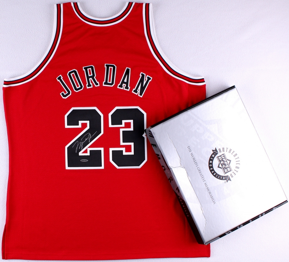 d240a125687 Michael Jordan Signed LE Authentic Mitchell   Ness Bulls Jersey (UDA COA) at  PristineAuction