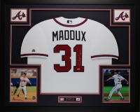 "Greg Maddux Signed 35"" x 43"" Custom Framed Jersey Inscribed ""HOF 14"" (TriStar) at PristineAuction.com"